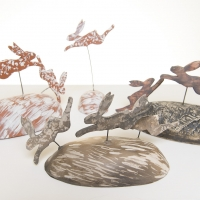 Leaping hares